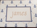 Blue and Taupe Anchors Away Notecards