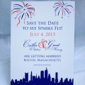 Swarovski Crystals Really Sparkle on a Fireworks Save-the-Date!